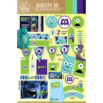 Kit Imprimible Personalizado Monsters Inc Candy Bar Deco!