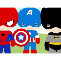 Kit Imprimible Pequeños Super Heroes Cotillon Promo 2x1
