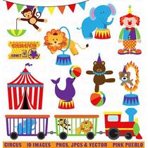 Kit Imprimible Circo Payasos 4 Imagenes Clipart