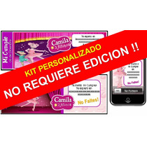 Kit Imprimible Angelina Ballerina Personalizado