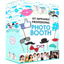 Kit Imprimible Photo Booth Props Bodas 15 Años Baby ! 10en1
