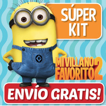 Super Kit Imprimible Mi Villano Favorito 2 Minions - Cumples