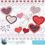 Kit Imprimible San Valentin Corazones 23 Imagenes Clipart