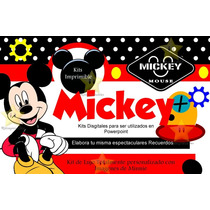 Mega Kit Imprimible Mickey Mouse + Candy