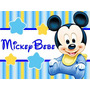 Kit Imprimible Mickey Bebe Disney Candy Bar Tarjetas Y Mas 1