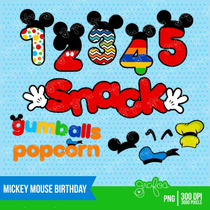 Kit Imprimible Mickey Mouse 3 Imagenes Clipart