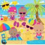 Kit Imprimible Fiesta De Playa Verano 5 Imagenes Clipart