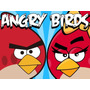 Kit Imprimible De Angry Birds Unico 3 X 1, Tarjetitas, Cotil