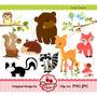 Kit Imprimible Animales Del Bosque 5 Imagenes Clipart