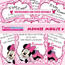 Kit Imprimible Minnie Mouse,candy Bar,decoraciones Y Cajitas