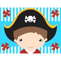 Kit Imprimible Piratas Diseñá Tarjetas Cotillon Invitacion 1
