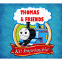 Kit Imprimible Tren Thomas Y Amigos Invitaciones Tarjetas Ar