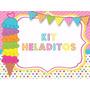 Kit Imprimible Heladitos, Candybar Helados, Golosinas Deco