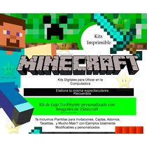 Kit Imprimible Minecraft + Candy Bar!!