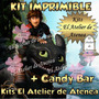 Kit Imprimible Como Entrenar A Tu Dragon 2 + Candy Bar Y Más