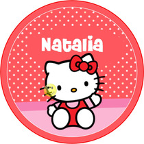 Kit Imprimible Hello Kitty Rojo Tarjeta Candy Bar Y Mas