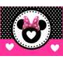 Kit Imprimible Minnie Mouse Diseñá Tarjetas , Cumples Y Mas