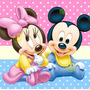 Kit Imprimible Mickey Y Minnie Bebe Tarjetas Candy Bar 2x1