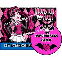 Kit Imprimible Draculaura Monster High Invitacion Y Golosina