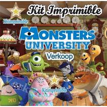Kit Imprimible Monster University + Candy Bar Marcos Fiestas