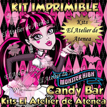 Kit Imprimible Candy Bar Draculaura Monster High