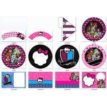 Kit Imprimible Candy Bar Monster High - Editable #239