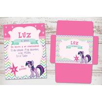 Kit Para Imprimir Mi Pequeño Pony Lila Violeta Poni Niñas