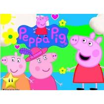 Kit Imprimible Peppa Pig La Cerdita Diseñá Tarjeta Invit 2x1
