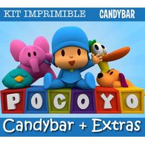 Kit Imprimible Pocoyo - Promo 2x1 - Candy Bar - Invitaciones