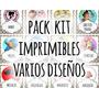 Pack Kit Imprimibles Varios Prediseñados Cumple Candy Bar!!!
