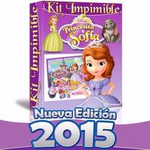 Kit Imprimible Princesita Sofia Invitaciones Cumples Candy B