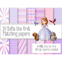 Kit Imprimible Princesa Sofia 34 Clipart 14 Fondos