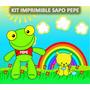 Kit Imprimible Sapo Pepe