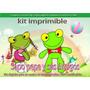 Kit Imprimible Y Candy Bar Sapo Pepe Invitaciones Cotillon
