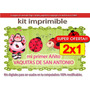 Kit Imprimible Primer Añito Vaquitas De San Antonio (2x1)