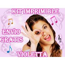 Kit Imprimible Violetta - Invitacion De Cumpleaños Y Mas
