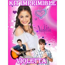 Kit Imprimible Violetta - Invitaciones E Incluye Candy Bar