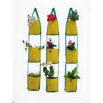 Kit De 9 Macetas Colgantes Balcon Huertas Aromaticas Flores
