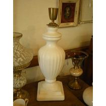 Antigua Lampara De Mesa En Ceramica Patinada