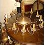 Muy Imponente Araña 12 Luces Estilo Francés Bronce Oro Hay+