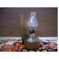 Antigua Miniatura Lampara A Kerosene Del 1900 - Reliquia !!!
