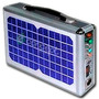 Kit Emergencia Solar C/ Mp3 Radio Usb- Sd- Lámpara Cargador