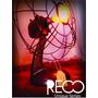 Velador Industrial Ventilador Foco Filamento Retro - Reco