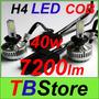 Kit H4 Led Cob 40w Mejor Que Xenon-6000k 7200lm Precio X Par