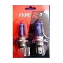 Lampara H4 H7 Typer-2 Type R 12v Simil Blue Vision Kit