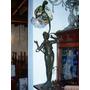Historical*-figura Petitbronce Luminaria-firmada 88 Cm-envio