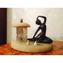Lámpara Art Deco - Figura Femenina Petite Bronce -marmol