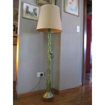Lámpara De Pie De Vidrio Verde Peces