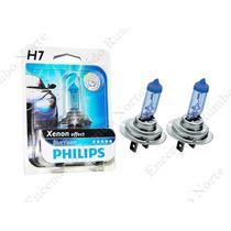 Lampara H7 Blue Vision Xenon Effect Philips 12v 55w + Regalo