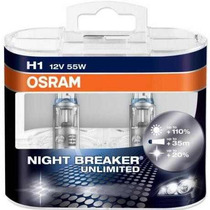 3 Kits De Lamparas Night Breaker Unlimited H1 H1 H3 - Osram